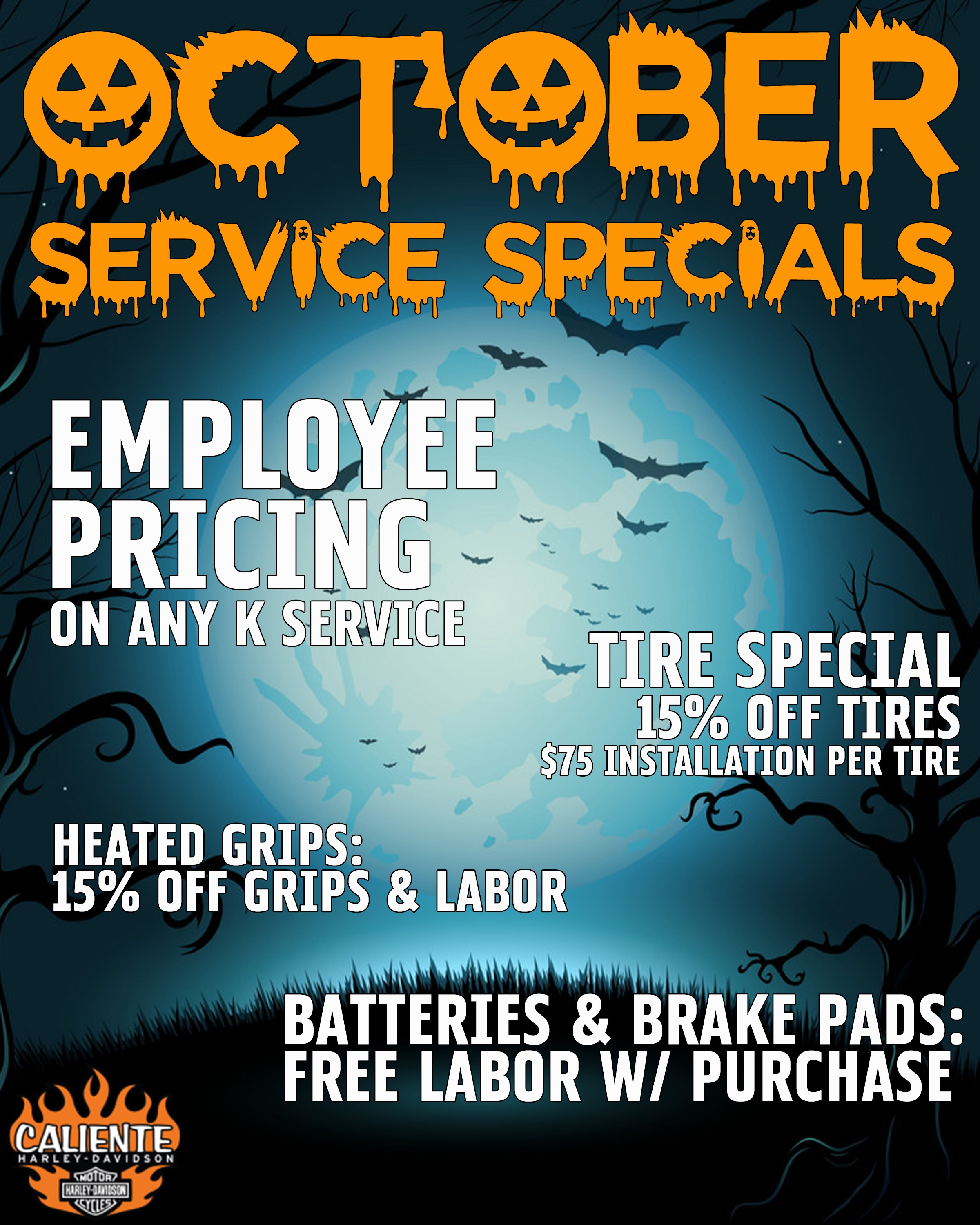 Employee Pricing on any K Service.